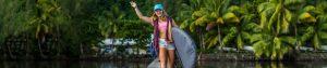 Fiona Wylde mit Starboard SUP Boardbag