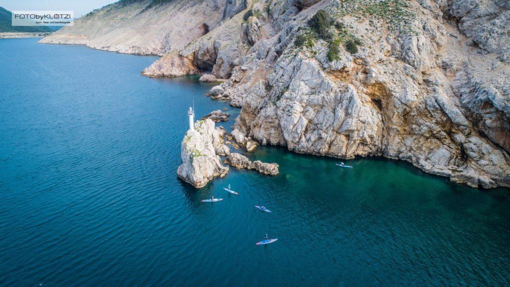 Drohnen Aufnahme mit Starboard SUP Boards