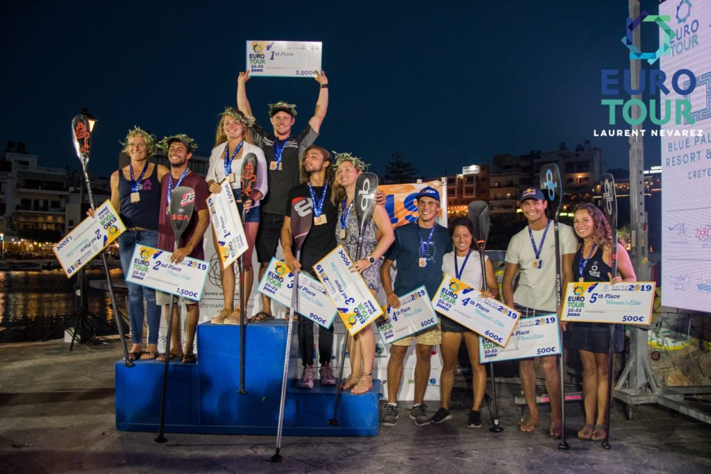 "Podium der ""The Euro Tour"" auf Kreta"