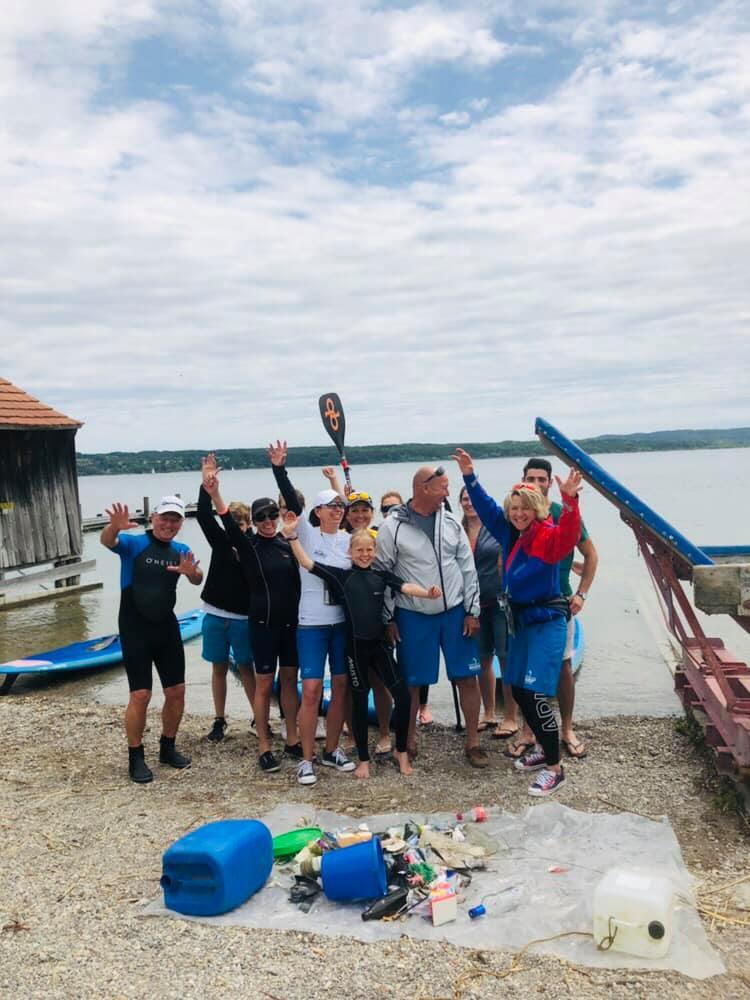 SUP Clean Up an der Steinlechner Bootswerft
