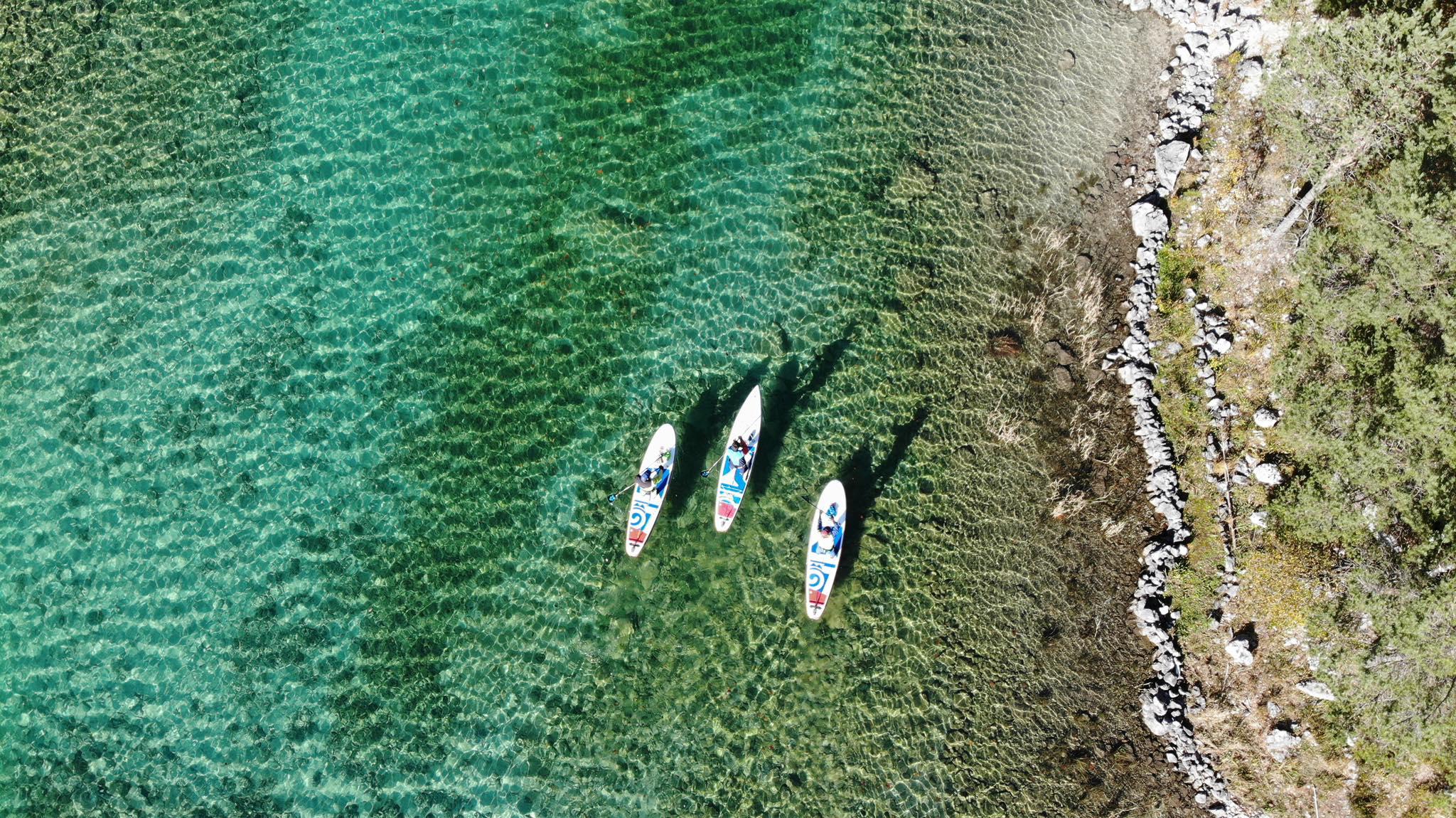Starboard SUP Teamrider gemeinsam unterwegs