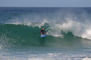 Benni Kohl in den Wellen Portugals